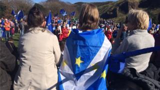 European march in Edinburgh