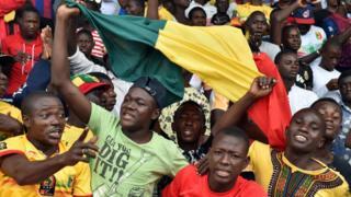 Des supporters du Mali lors des Jeux de la francophonie d'Abidjan.
