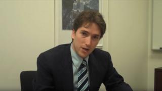 A still of Darren Beattie from a 2009 video