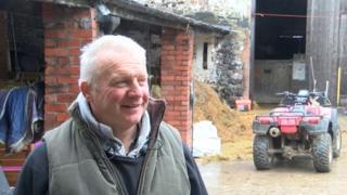 Pig farmer Gwyndaf Thomas