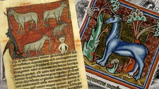 Dibujos de animales medievales