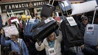 акция протеста жителей Венеции