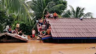 Inundaciones en Laos en el verano de 2018.