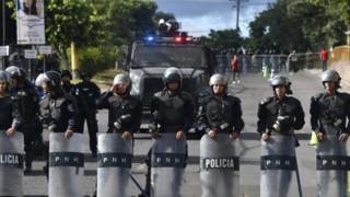 Policía Militar de Honduras en Tegucigalpa.