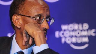 Prezida Kagame mu nama ya World Economic Forum i Davos mu 2009