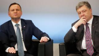 Президент Польщі Анджей Дуда та президент України Петро Порошенко