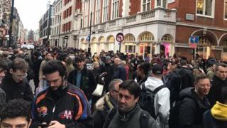 Evacuated people