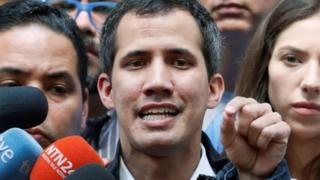 Juan Guaidó in Caracas, 27 January