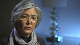 South Korean Foreign Minister Kang Kyung-wha during a BBC interview