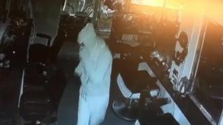 Burglar in hair salon