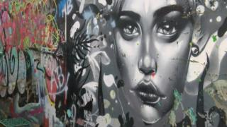 Graffiti at the Meadow Lane skatepark