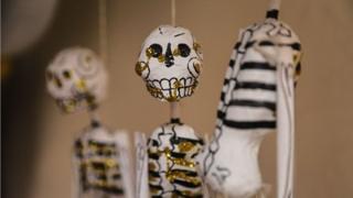 İskeletler, Meksika'da Ölüler Günü'nde her yerde