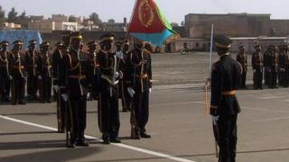 Eritrean Army parades during the country's independence anniversary celebrations attended by a 13,000-strong crowd 24 May 2003, at Asmara main square