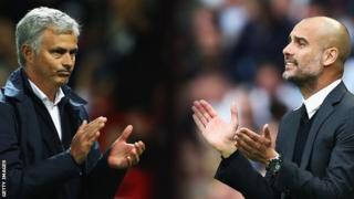 Jose Mourinho na Pep Guardiola