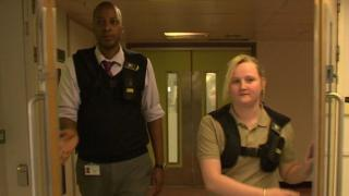 Security staff with body cameras