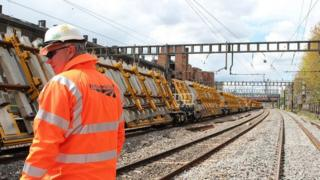 New track is being installed at Shawfield junction