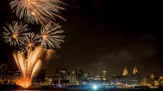 Liverpool fireworks