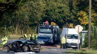 Diversions were put in place following the crash