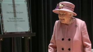 Queen Elizabeth II at Bush House, London