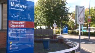 Medway Maritime Hospital sign