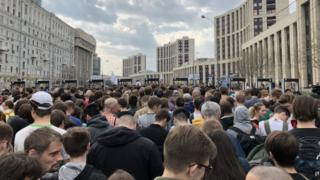 Митинг в поддержку Телеграм