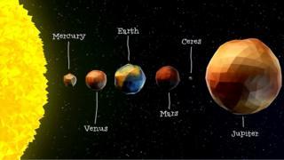 La posición de Ceres en el Sistema Solar