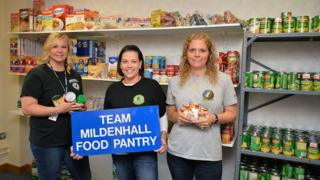 The interior of the food pantry