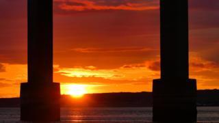 Sunrise at Kessock Bridge
