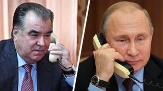 Владимир Путин менен Эмомали Рахмон