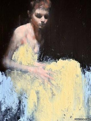 Painting from Mark Demsteader's Emma exhibition at London's Panter & Hall gallery