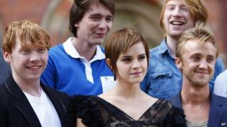 Cast of Harry Potter including Emma Watson, Rupert Grint and Tom Felton
