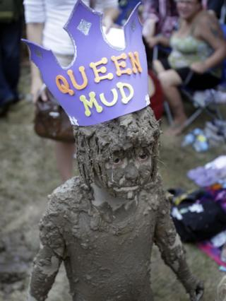 Kathryn was crowned Queen of the Mud
