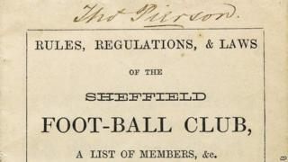 World's oldest football rulebook sold.