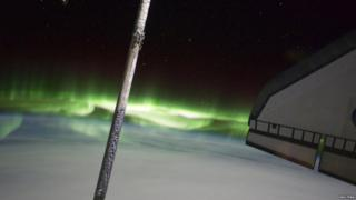 The Southern Lights seen from the ISS