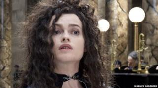 Harry Potter and the Deathly Hallows: Part 2 star Helena Bonham Carter, playing the character of Bellatrix Lestrange