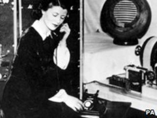 Jane Cain in 1936 - the first voice of the clock.