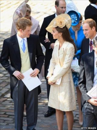 Catherine Duchess of Cambridge and Prince Harry