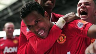 Community Shield: Manchester United 3-2 Manchester City - Nani celebrates