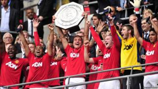 Community Shield: Manchester United 3-2 Manchester City - United lift the trophy after beating City