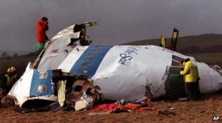 Aftermath of the Lockerbie plane crash