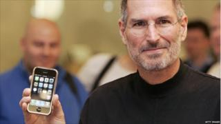 Steve Jobs with the iPhone