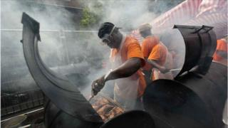 Jerk chicken at the Notting Hill Carnival