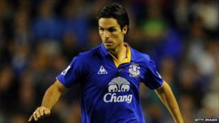 Former Everton player Mikel Arteta, who's been signed up by Arsenal