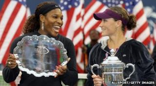 Serena Williams and the new US Open women's champ Sam Stosur