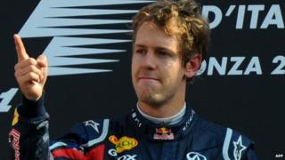 Sebastian Vettel at the Italian Grand Prix