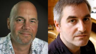 Muddle Earth creators, author Paul Stewart and illustrator Chris Riddell