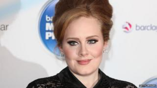 Adele at the Mercury Music Prize in September 2011