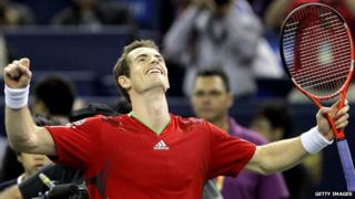 Andy Murray celebrating his win