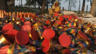 Hundreds of firecrackers