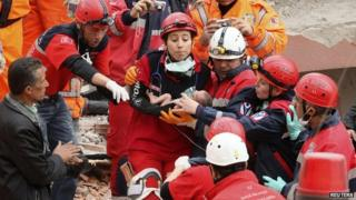 The baby pulled alive from rubble